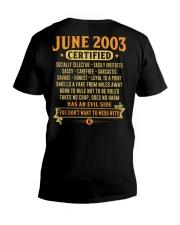 MESS WITH YEAR 03-6 V-Neck T-Shirt thumbnail