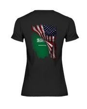 Flag-America-Saudi Arabia Premium Fit Ladies Tee thumbnail