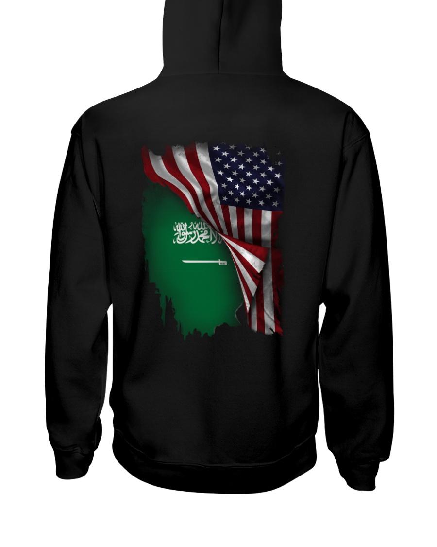 Flag-America-Saudi Arabia Hooded Sweatshirt