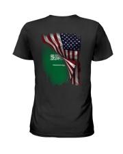 Flag-America-Saudi Arabia Ladies T-Shirt thumbnail