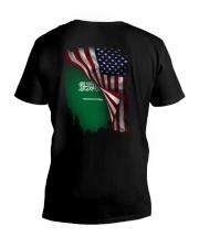 Flag-America-Saudi Arabia V-Neck T-Shirt thumbnail
