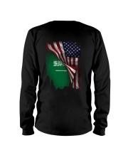 Flag-America-Saudi Arabia Long Sleeve Tee thumbnail