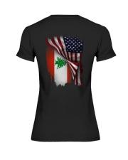 Flag-America-Lebanon Premium Fit Ladies Tee thumbnail