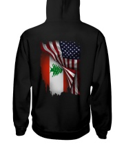 Flag-America-Lebanon Hooded Sweatshirt back