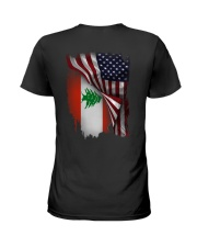 Flag-America-Lebanon Ladies T-Shirt thumbnail