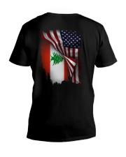 Flag-America-Lebanon V-Neck T-Shirt thumbnail