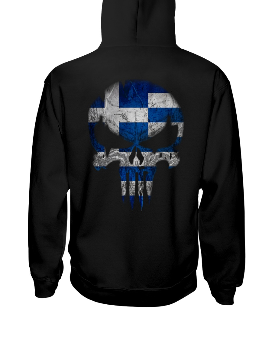 Skull Greece Hooded Sweatshirt