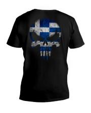 Skull Greece V-Neck T-Shirt thumbnail