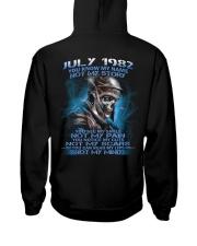 NOT MY 82-7 Hooded Sweatshirt back