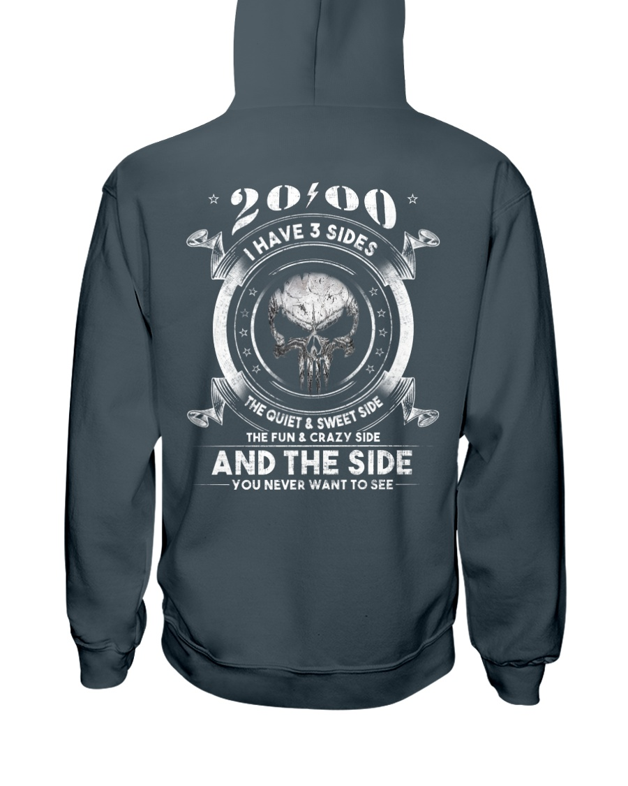 3 SIDE YEAR 00 Hooded Sweatshirt
