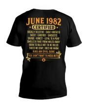 MESS WITH YEAR 82-6 V-Neck T-Shirt thumbnail