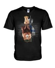 Lion-Finland V-Neck T-Shirt thumbnail