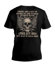 I AM A GUY 84-4 V-Neck T-Shirt thumbnail