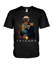 PUG DOG V-Neck T-Shirt thumbnail