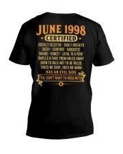 MESS WITH YEAR 98-6 V-Neck T-Shirt thumbnail
