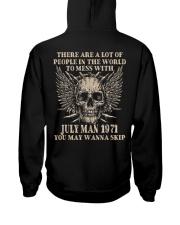 I AM A GUY 71-7 Hooded Sweatshirt back