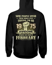 Be Awesome 1975- 2 Hooded Sweatshirt back