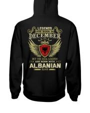 Blood Albanian 012 Hooded Sweatshirt back