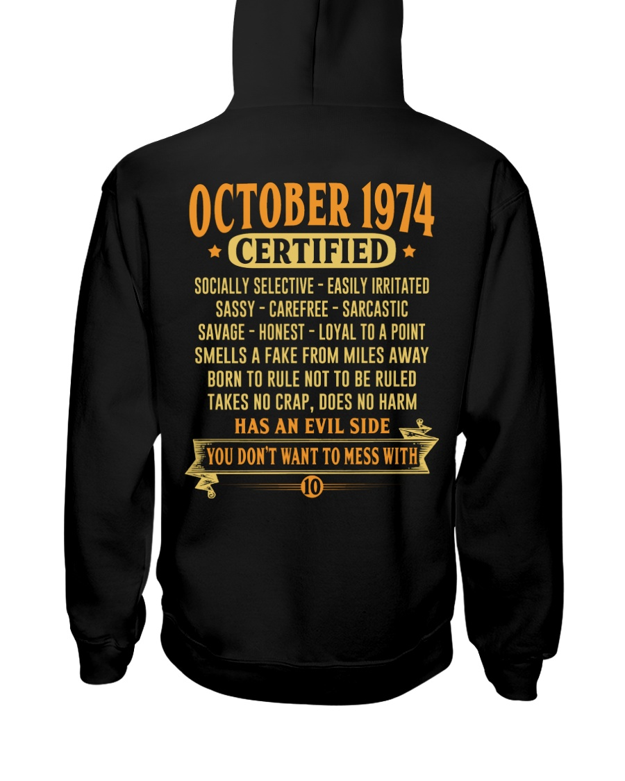 MESS WITH YEAR 74-10 Hooded Sweatshirt