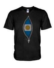 Zipper Argentina V-Neck T-Shirt thumbnail