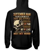 NOT MY MIND 9 Hooded Sweatshirt back