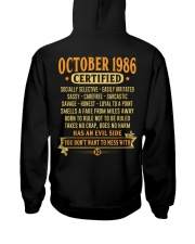 MESS WITH YEAR 86-10 Hooded Sweatshirt back