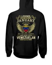 Blood Venezuelan 01 Hooded Sweatshirt back
