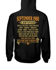 MESS WITH YEAR 80-9 Hooded Sweatshirt back
