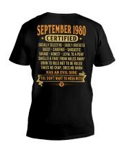 MESS WITH YEAR 80-9 V-Neck T-Shirt thumbnail