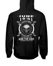 3SIDE 81-06 Hooded Sweatshirt back
