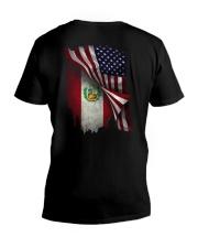 Flag-Peruvian V-Neck T-Shirt thumbnail