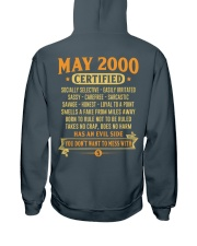 MESS WITH YEAR 00-5 Hooded Sweatshirt back