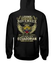 Blood Ecuadorian 011 Hooded Sweatshirt back