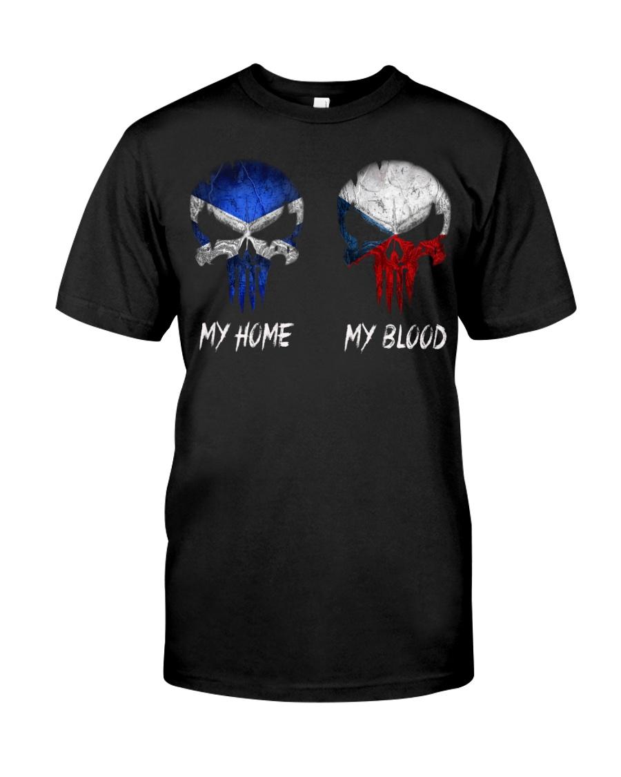 MY HOME SKULL Scotland - Czech Classic T-Shirt