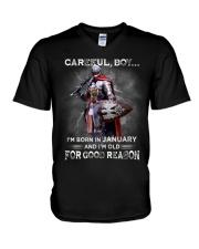CAREFUL 01 V-Neck T-Shirt thumbnail