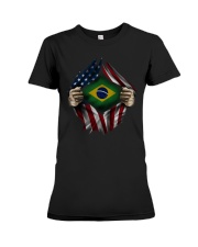 American-Brazil Premium Fit Ladies Tee thumbnail