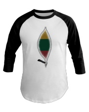 Lithuania Baseball Tee tile