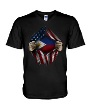 American-Philippines V-Neck T-Shirt thumbnail