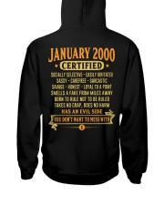 MESS WITH YEAR 00-1 Hooded Sweatshirt back