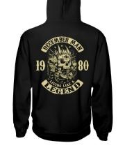 MAN 1980- 12 Hooded Sweatshirt back