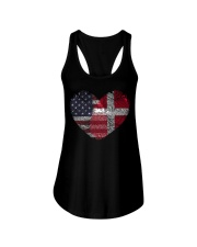 MY HEART Denmark Ladies Flowy Tank thumbnail