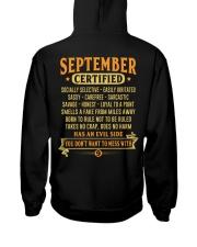 MESS WITH MAN 9 Hooded Sweatshirt back