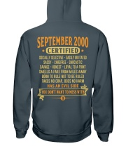 MESS WITH YEAR 00-9 Hooded Sweatshirt back