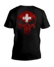 Skull Switzerland V-Neck T-Shirt thumbnail