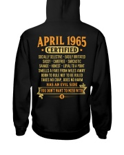 MESS WITH YEAR 65-4 Hooded Sweatshirt back