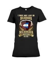 I MAY NOT Nicaragua Premium Fit Ladies Tee thumbnail