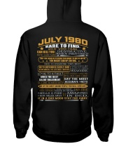YEAR GREAT 80-7 Hooded Sweatshirt back