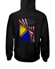 Flag-America-Bosnia Hooded Sweatshirt back