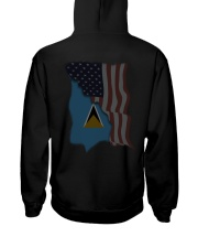 Saint Lucia Hooded Sweatshirt back