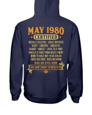 MESS WITH YEAR 80-5 Hooded Sweatshirt back